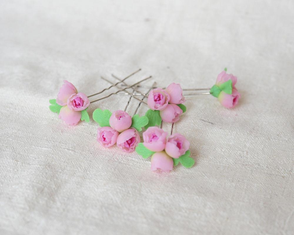 розовый шифон, серьги