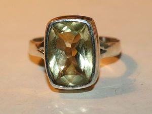 Серьги кольцо золотистый топаз  натуральный серебро 925 %. Ярмарка Мастеров - ручная работа, handmade.