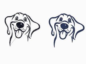 Бесплатный дизайн для машинной вышивки Собака. Ярмарка Мастеров - ручная работа, handmade.