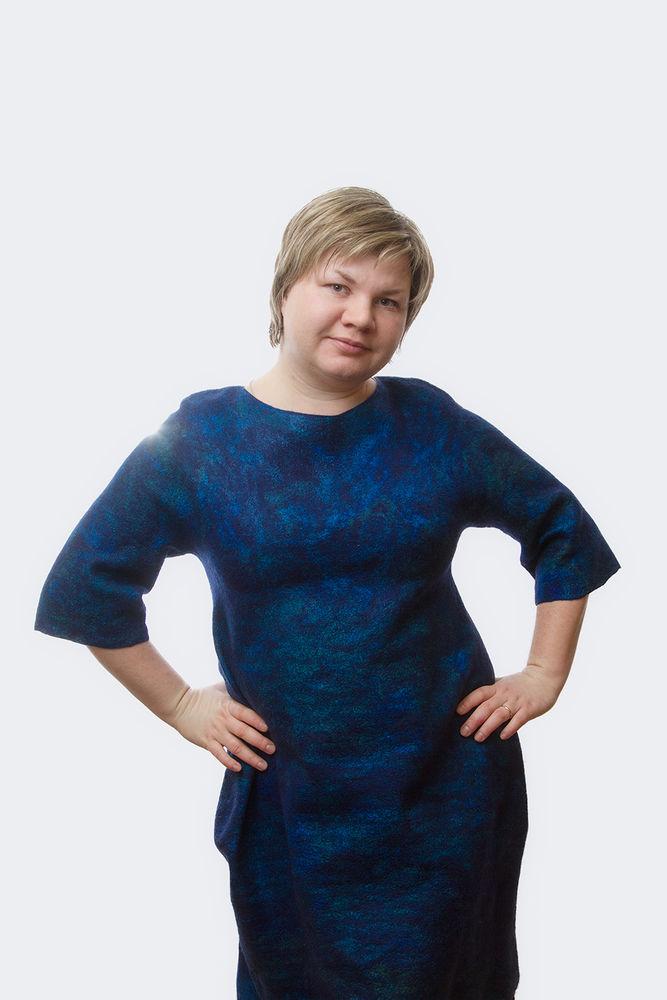 одежда из войлока, валяный свитер, цельноваляный рукав