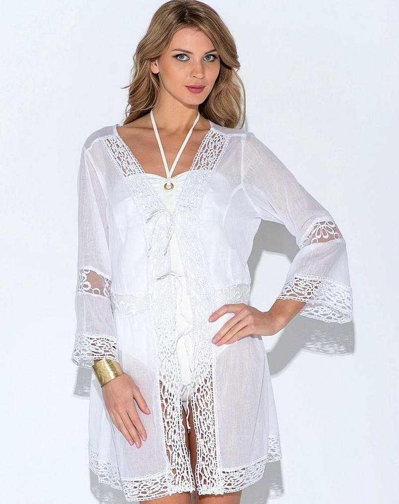 Белое бохо, или Шикарная одежда для королевы летнего пляжа, фото № 29