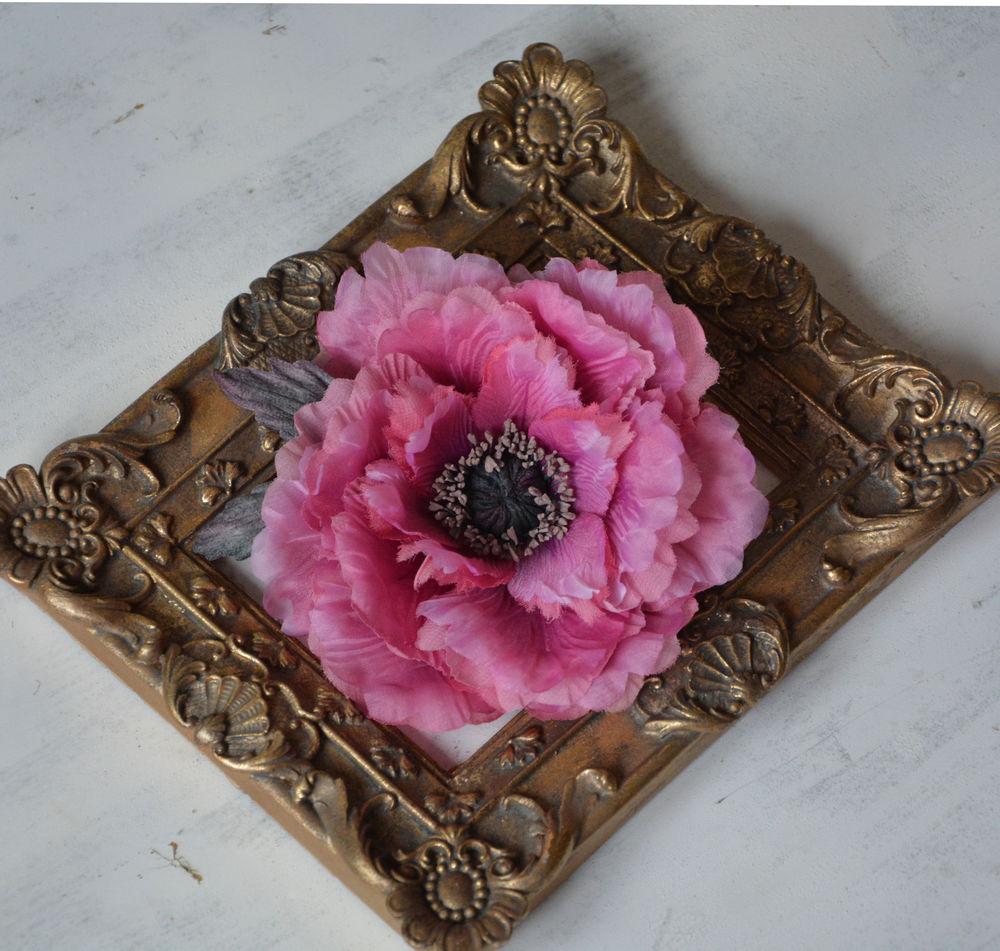 мак из шелка, шёлковые цветы