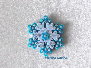 Создаем ёлочную игрушку из фетра «Снежинка». Ярмарка Мастеров - ручная работа, handmade.