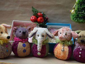 Последняя коллекция уходящего года Тедди-шарики | Ярмарка Мастеров - ручная работа, handmade