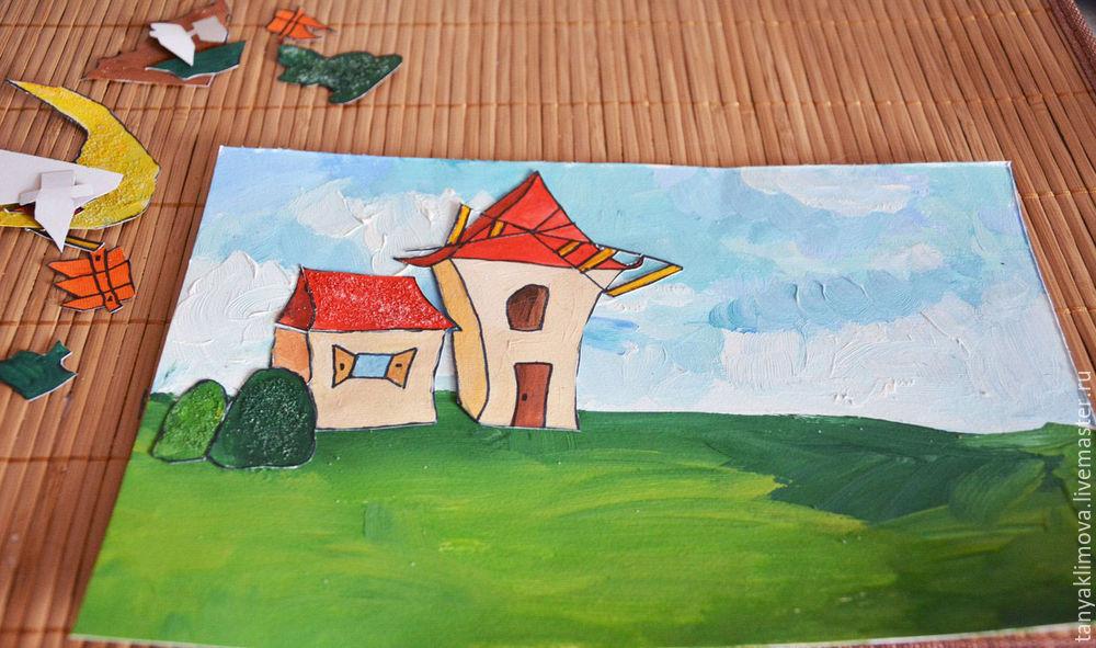 Развиваем детей с помощью аппликации «сказочный город», фото № 23