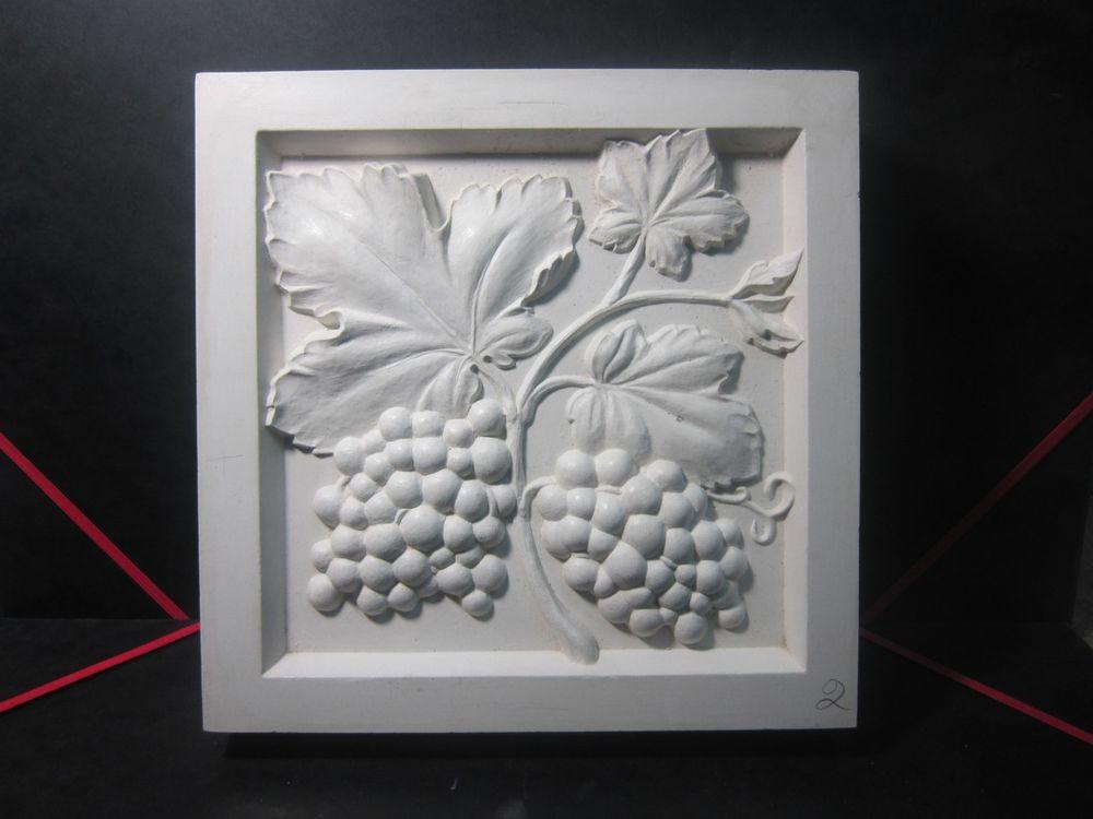 гипс, декоративные растения, маска из гипса