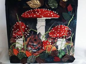 Осенний ценопад на красивые сумочки из натуральной кожи с вышивкой бисером. Ярмарка Мастеров - ручная работа, handmade.