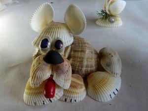 На память о море: мастерим с детьми собачку из ракушек. Ярмарка Мастеров - ручная работа, handmade.