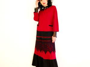 Новое платье Вишневый Микс 2 миди. Ярмарка Мастеров - ручная работа, handmade.