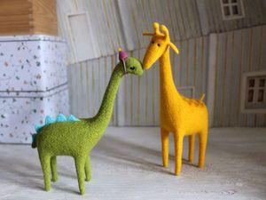 Мастер-класс для новичков. Сухое валяние на каркасе. Жираф или динозавр | Ярмарка Мастеров - ручная работа, handmade