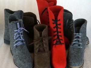 А теперь и валяная обувь.. | Ярмарка Мастеров - ручная работа, handmade