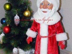 Дед Мороз. Деревянная шарнирная кукла.. Ярмарка Мастеров - ручная работа, handmade.