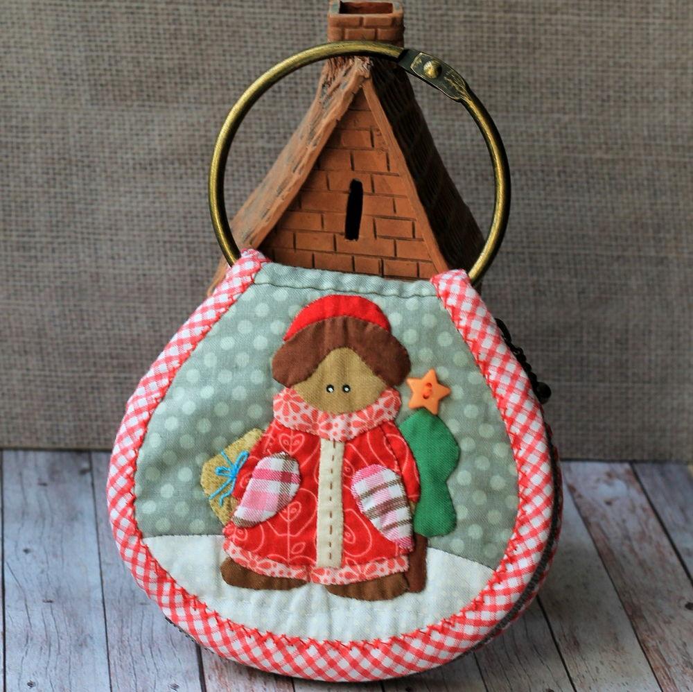 японский пэчворк, японская ключница, шитье, праздник, рождество