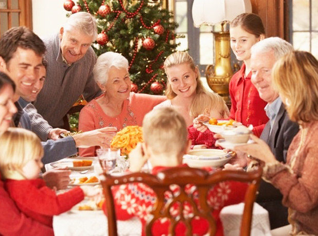 удачно семейное празднование нового года Детское