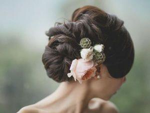 Цветы для прически невесты с застежкой крабик купить цветы доставкой орехово зуево