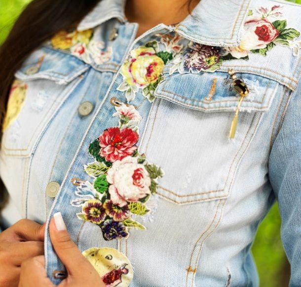 Многообразный декор джинсовых курток: 50 интересных вариантов, фото № 15