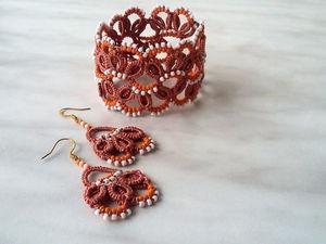 Новые модели браслетов и комплектов украшений фриволите. Ярмарка Мастеров - ручная работа, handmade.