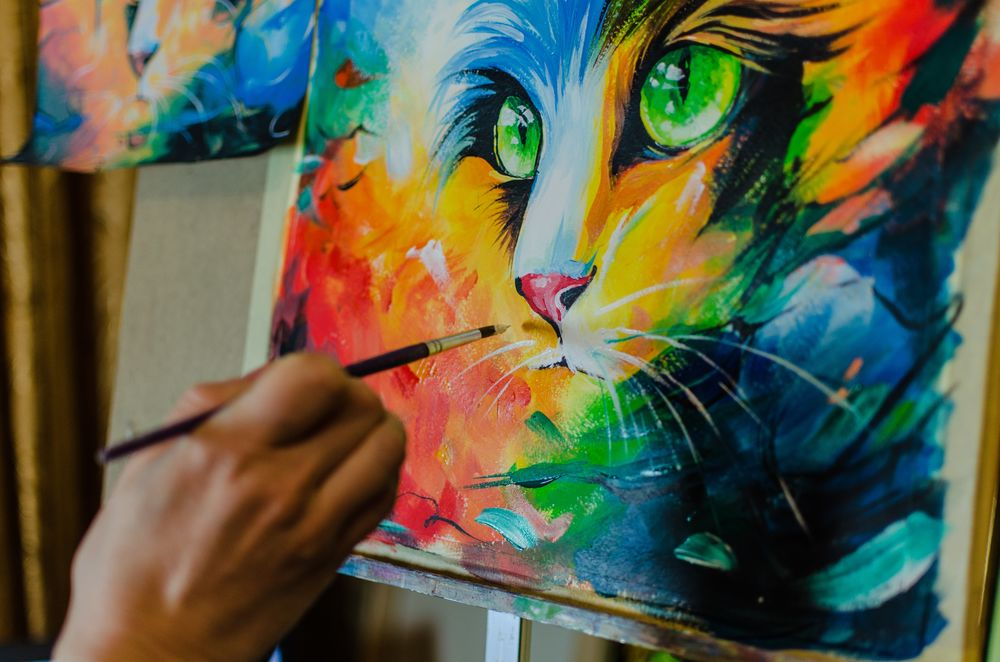 уроки живописи, яркие цвета