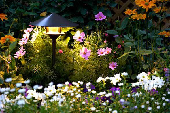 Ландшафтный : ночное освещение в саду или на даче.. Панель идей