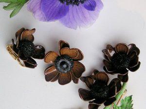 Шоколадные анемоны | Ярмарка Мастеров - ручная работа, handmade
