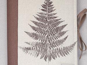 Альбом для гербария Лист Папоротника. Ярмарка Мастеров - ручная работа, handmade.