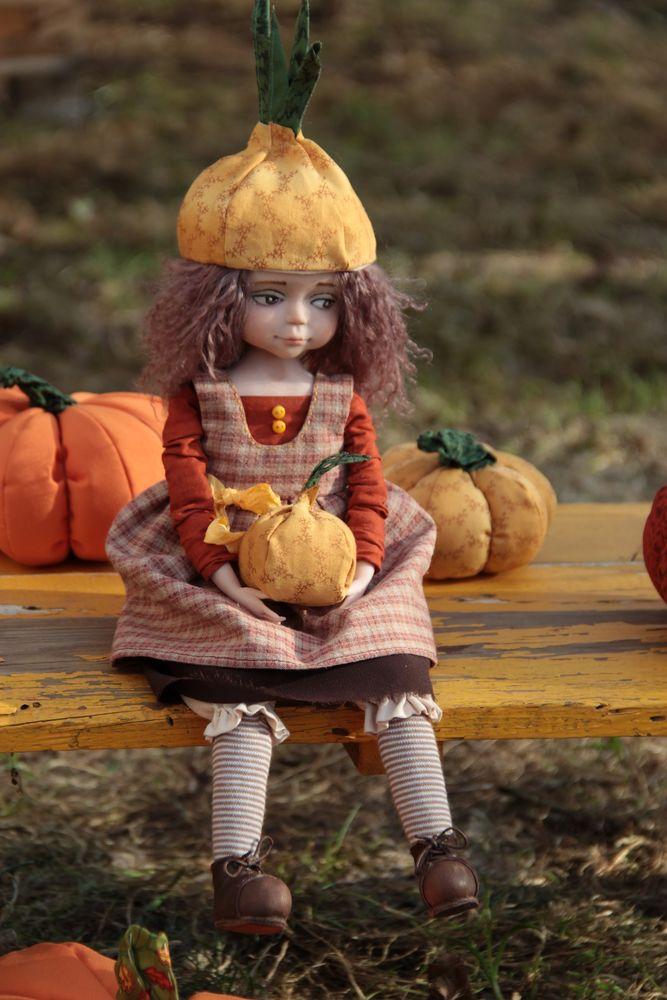 кукла ручной работы, чиполлинка, коллекционная кукла, сделано с любовью