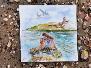 Новая картина с морем и ее история создания. Ярмарка Мастеров - ручная работа, handmade.