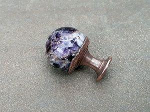 Ручки для мебели с шарами из аметиста. Новый магазин. Ярмарка Мастеров - ручная работа, handmade.