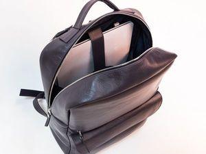 Новинка - Женский кожаный рюкзак для ноутбука. Ярмарка Мастеров - ручная работа, handmade.