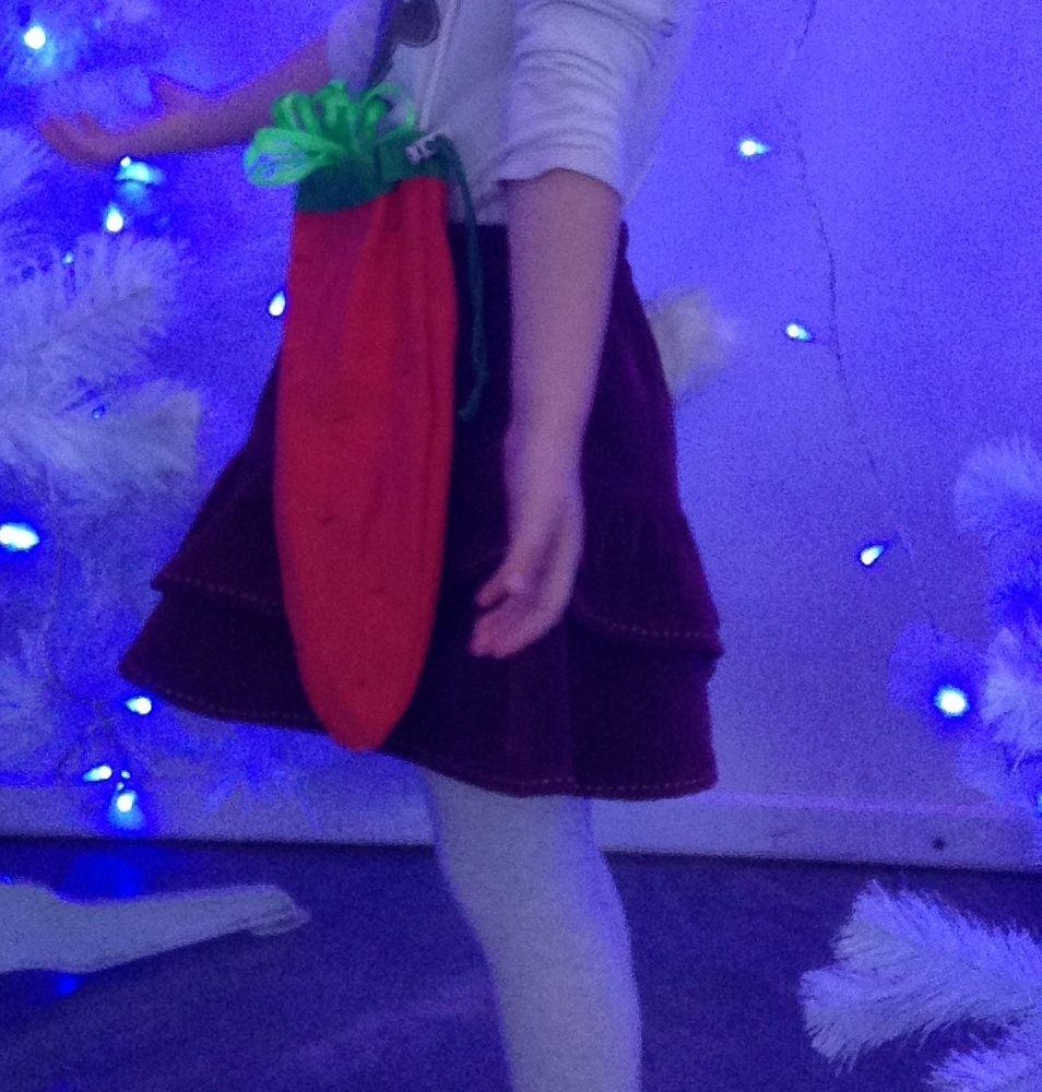 новогодний костюм, новогодний костюм зайчика, сумка-морковка, новый год
