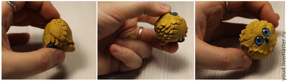 Сова из полимерной глины мастер класс с пошаговым фото