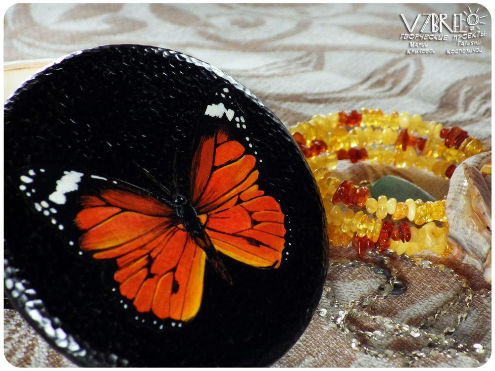 vzbrelo, бабочка, роспись по дереву, яркость, подарок