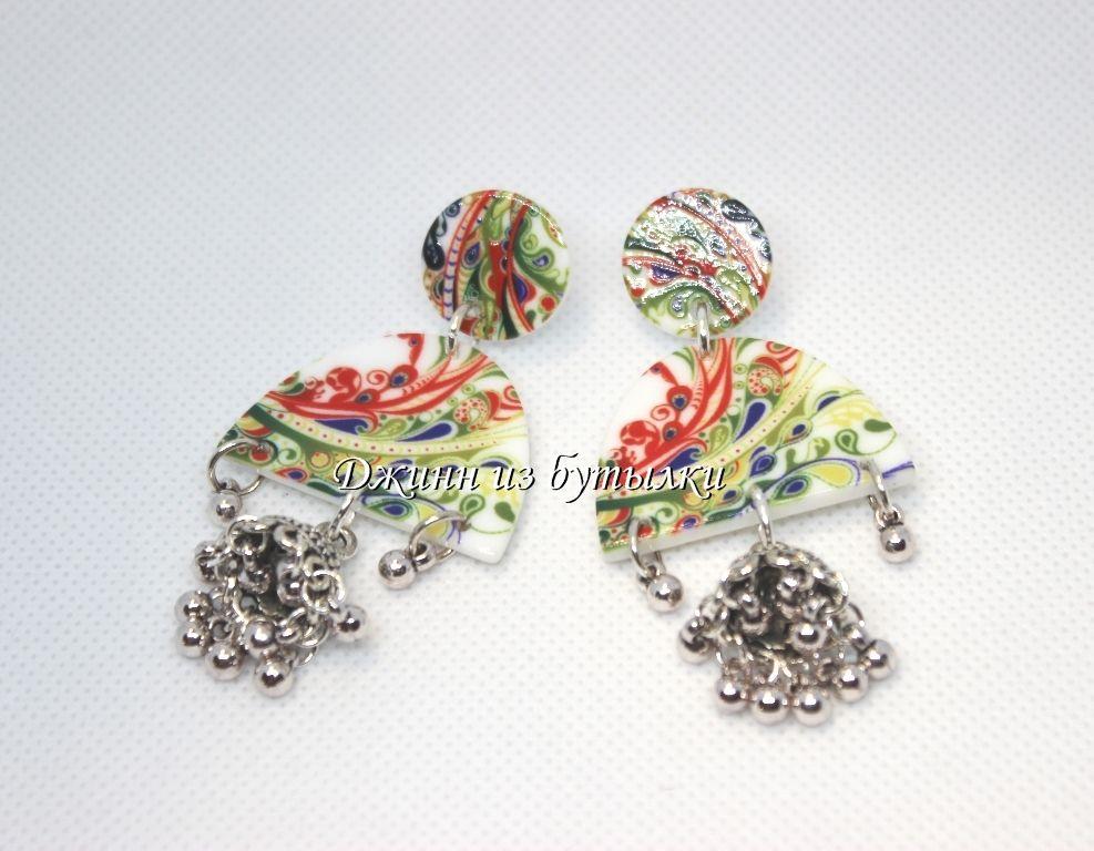 серьги джумки, индийские украшения, этнические украшения