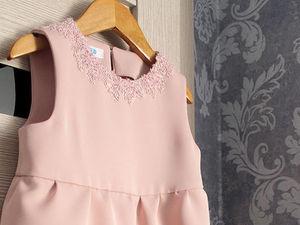 Шьём милое детское платье с кружевной отделкой. Ярмарка Мастеров - ручная работа, handmade.