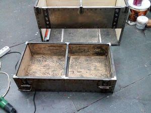 Создаем комод из металла и массива в форме сундука.. Ярмарка Мастеров - ручная работа, handmade.