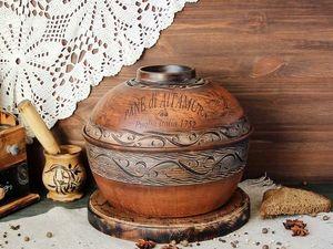 Абсолютная новинка! Хлебница из красной глины. Ярмарка Мастеров - ручная работа, handmade.