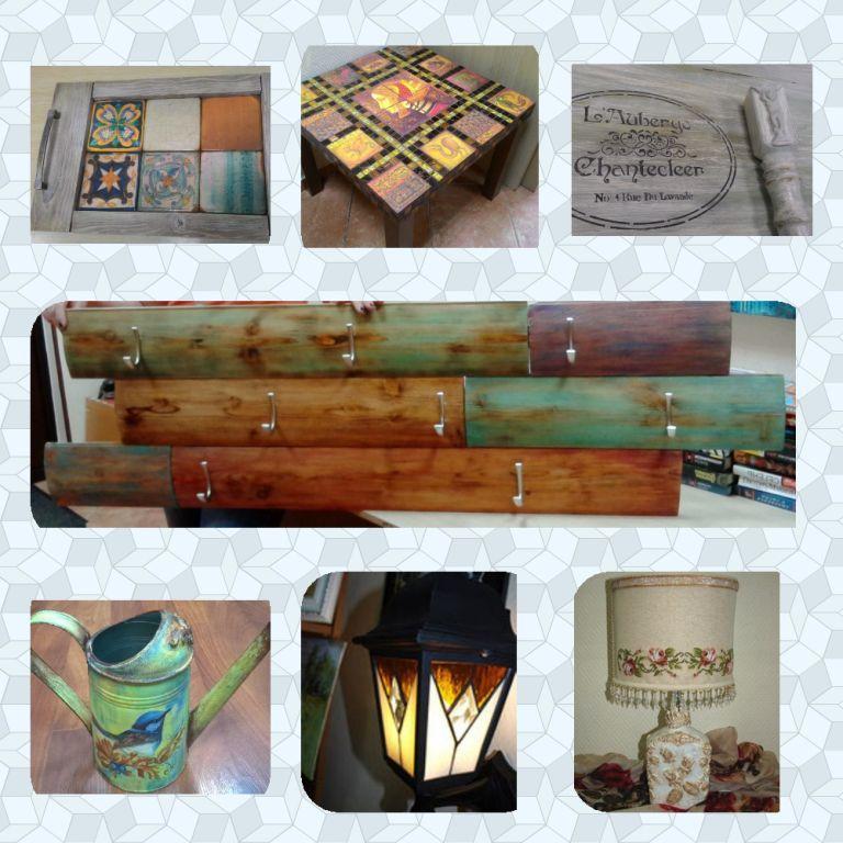 декупаж, витражи, декорирование мебели, браширование, морение, состаривание предметов