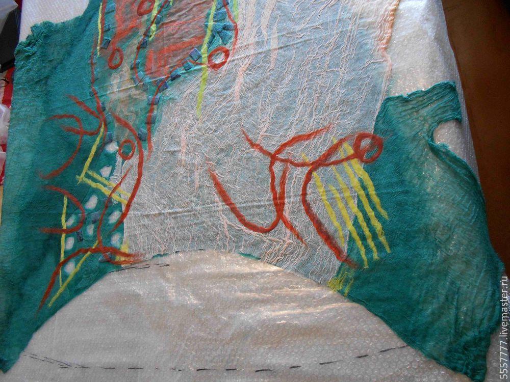 Создаем оригинальную тунику из марли и шерсти, фото № 16