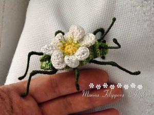Новые летние броши — цветочные жуки!. Ярмарка Мастеров - ручная работа, handmade.