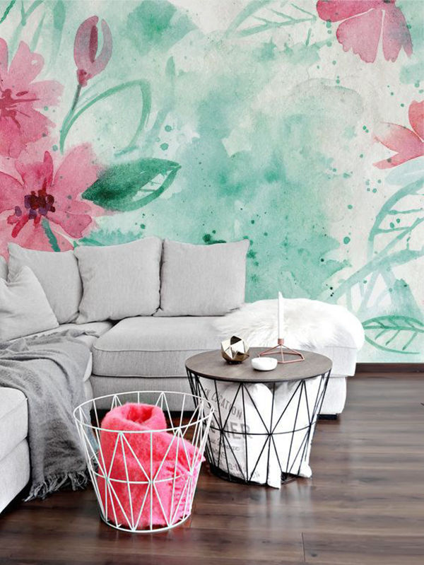 The Tenderest Interior: Abstract Watercolours on Modern Wallpapers, фото № 10