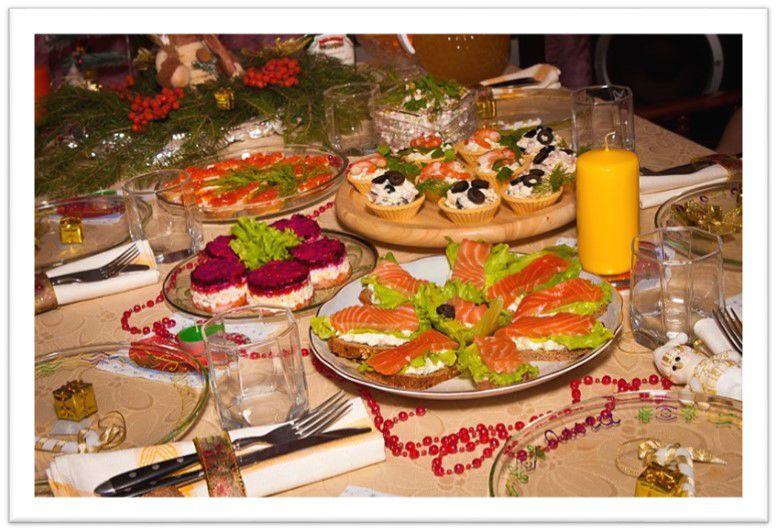 Меню на праздничный стол рецепты с фото