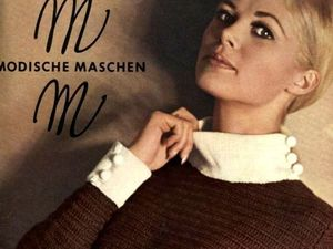 """""""Modische Maschen"""" (Вязание), № 2/1968. Фото моделей. Ярмарка Мастеров - ручная работа, handmade."""
