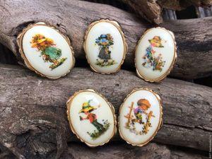 Предновогодний календарь блога. 14  декабря. Подарок - Винтажная брошь!. Ярмарка Мастеров - ручная работа, handmade.
