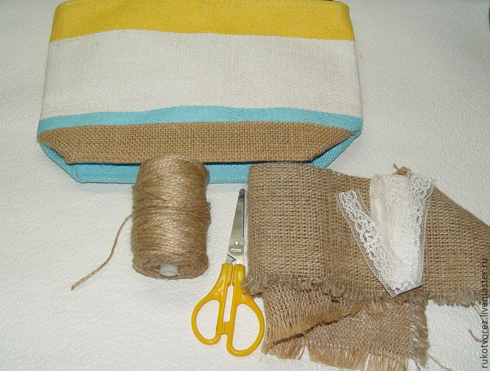 Переделываем летнюю косметичку в яркую сумочку, фото № 3