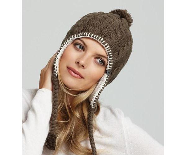 Вязаные шапки женские с ушками