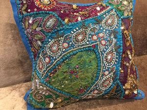 Буйство красок в традиционной индийской вышивке. Ярмарка Мастеров - ручная работа, handmade.