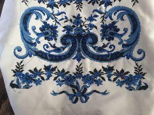 Платье с узором крестиком в стиле Гжель. Ярмарка Мастеров - ручная работа, handmade.