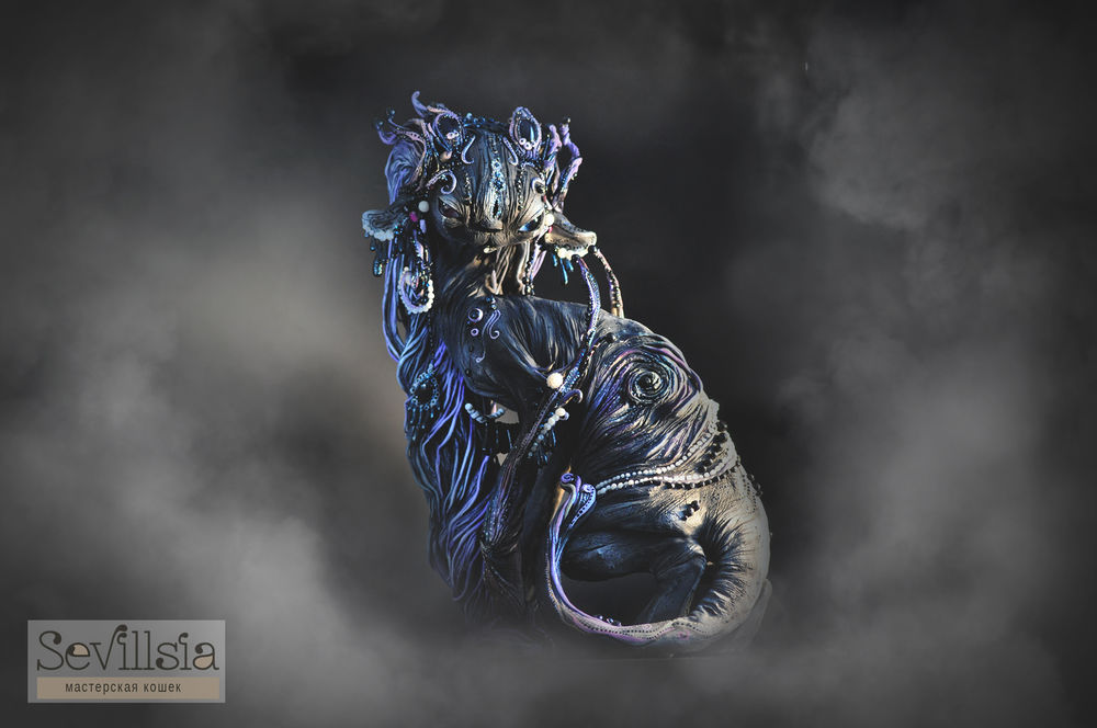 аукцион, инопланетянка, тьма, существо, демон, рога, sevillsia