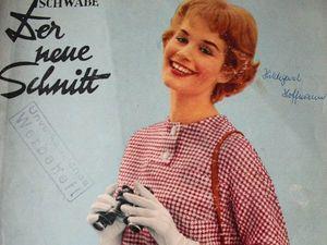 Schwabe der neue Schnitt — журнал мод 8/1958. Ярмарка Мастеров - ручная работа, handmade.