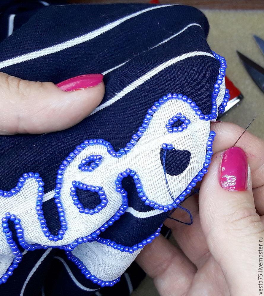 вышивка на стрейч-ткани
